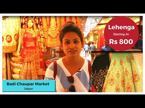 Wedding Lehenga Shopping At Badi Chaupar Market, Jaipur | Thing To Do in Rajasthan