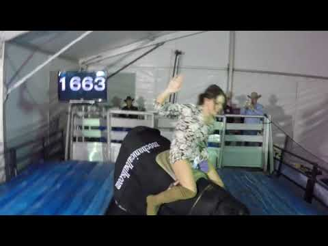 Lauren rides the Superbull at the WNFR 1663