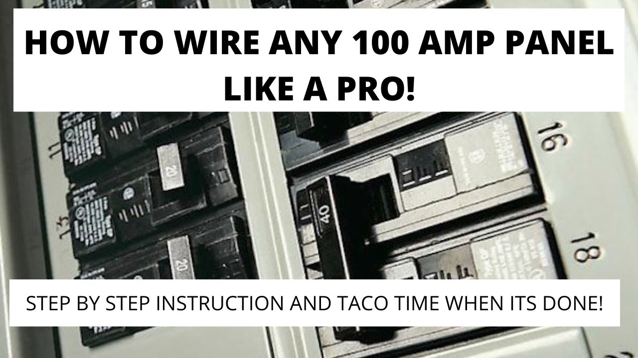 How To Wire And Install An Electrical Panel Youtube