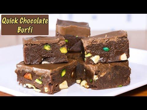 Quick & Easy Chocolate Barfi Recipe I Kids Special   Kanak's Kitchen