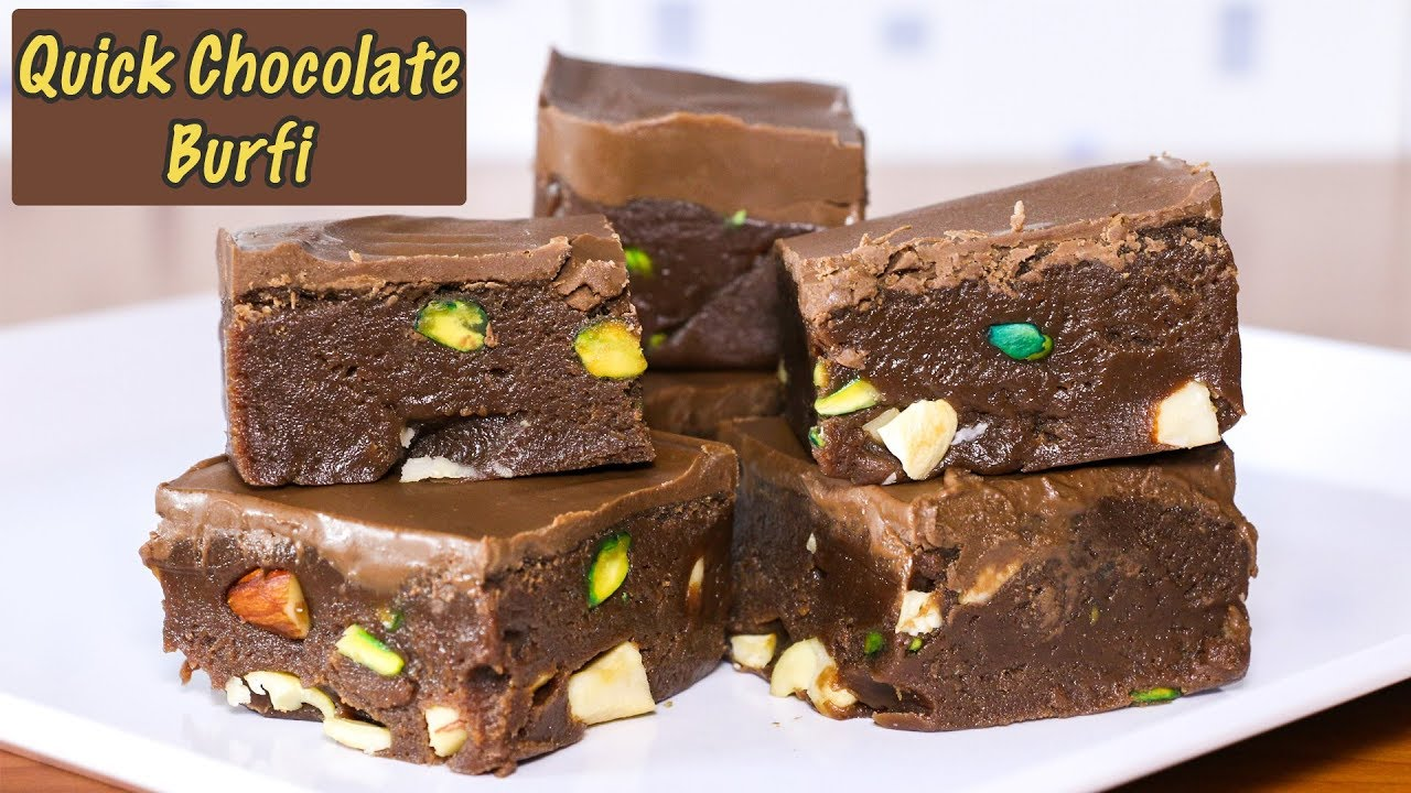 Chocolate Burfi - Cook With Manali