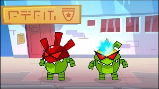 Om Nom Stories 🤖 Robot Attack (Cut the Rope) Super-Noms 💚 Kedoo ToonsTV