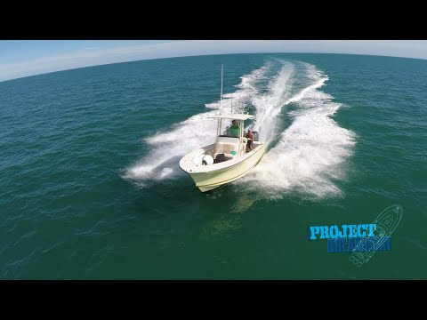 Florida Sportsman Project Dreamboat - Hydra-Sports Tab Install, 23 Seacraft Dream Splash