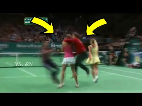 Thumbnail: Tennis Craziest Court Invaders : Naked Sneakers , Kissing Players and More...