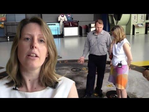 Kirk Sorensen tours Lady Bryony Worthington through U.S. Space & Rocket Center in Huntsville