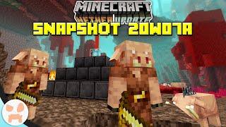 PIGLINS & HOGLINS! | Minecraft 1.16 Nether Update Snapshot 20w07a