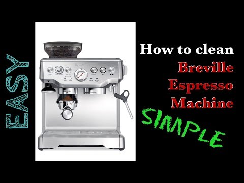How to Clean the Breville Espresso Machine / Coffee Maker