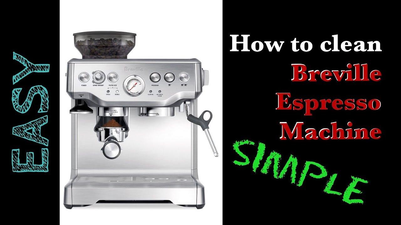 how to descale a breville espresso machine