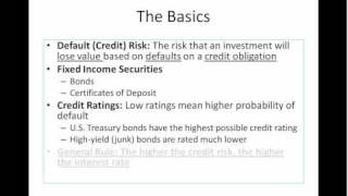 Default (Credit) Risk