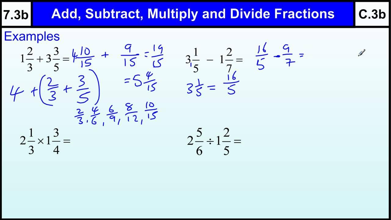 medium resolution of 7.3b Fractions