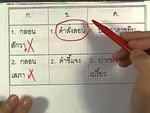 ข้อสอบO-NET ป.6 ปี2552 : ภาษาไทย ข้อ24