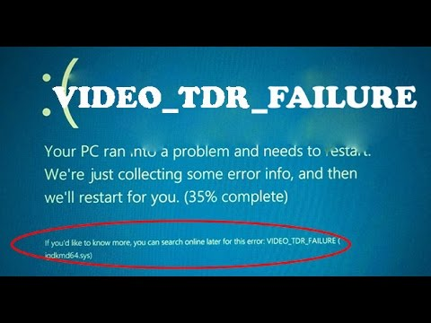 How to fix VIDEO_TDR_FAILURE(igdkmd64.sys)-All windows version - YouTube