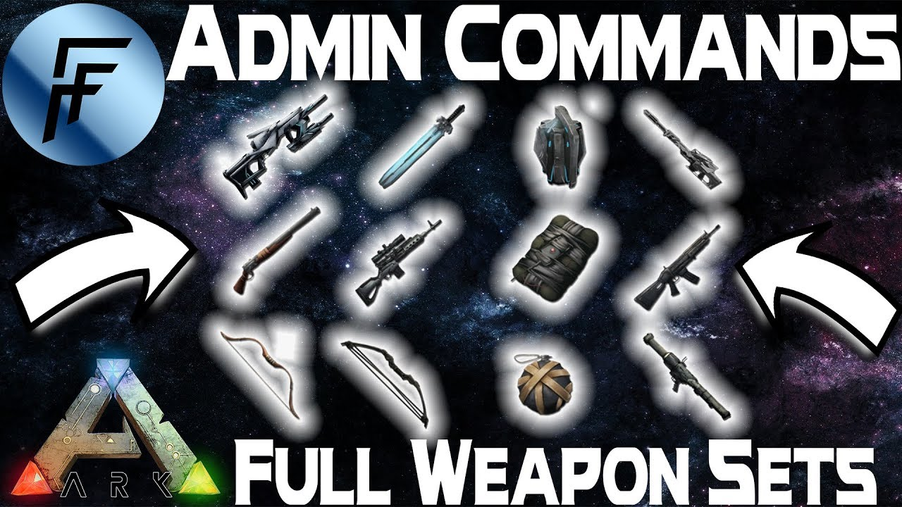 Spawn Full Ascendant Weapon Sets!!!| Admin Commands - ARK: Survival Evolved