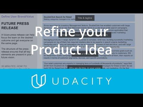 Refine Your Product Idea | Validation | Product Design | Udacity