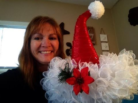 Part 1 Santa Hat Tutorial With Dollar Tree Supplies