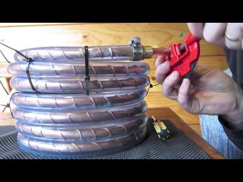 Counterflow wort chiller, build and