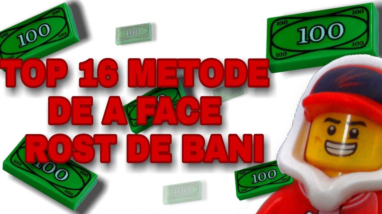 TOP 16 METODE DE A FACE ROST DE BANI