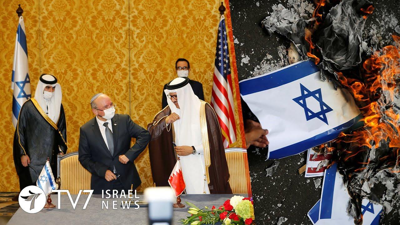 Bahrain-Israel sign peace' MOU; Gaza fires at Israel; COVID closure lifted- TV7 Israel News 19.10.20