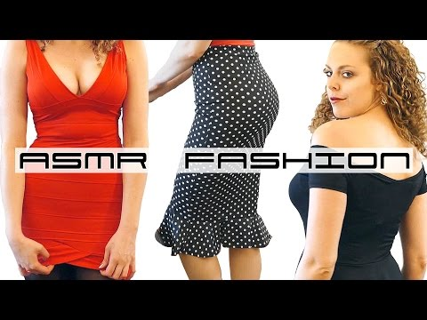 ASMR Dress Up Fashion Show Haul 3, Dresses by Dressin, Whisper Ear to Ear Binaural Soft Spoken