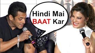 Salman Khan Makes FUN Of Jacqueline Fernandez At Race 3 Trailer Launch