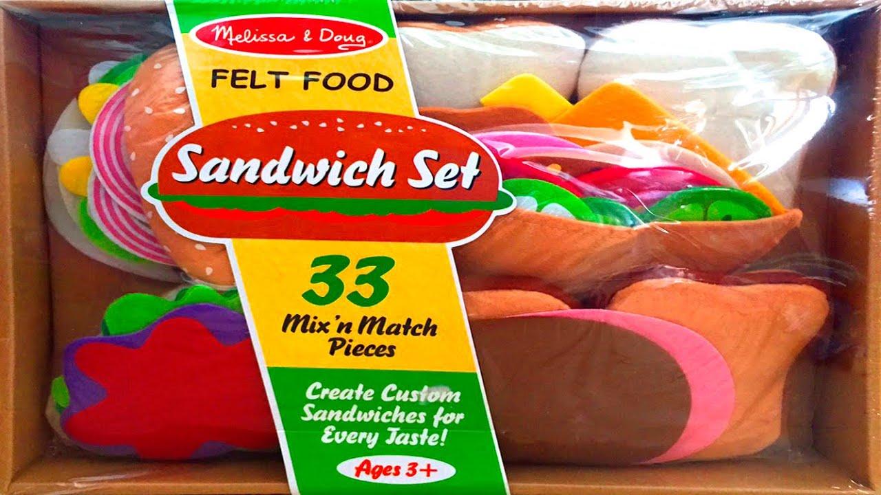 Felt Food Toys R Us : Sandwich set melissa doug felt food toy review