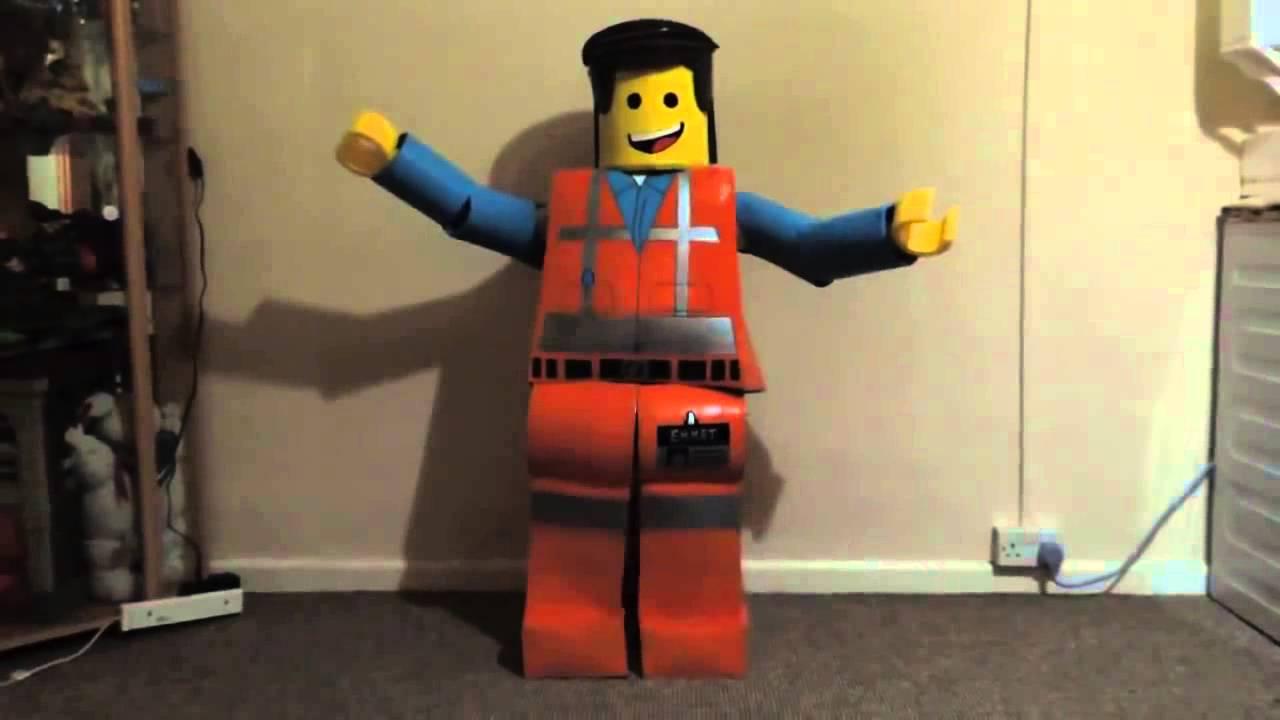 My daughter Hope in her Lego movie Emmet costume i made D & My daughter Hope in her Lego movie Emmet costume i made D - YouTube