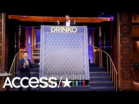 Ryan Reynolds & Jimmy Fallon Play Hilarious Drinking Game—And Someone Pukes!