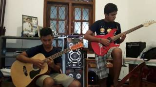 Billy fernando - sugar rush guitar solo by theekshana and bimsara