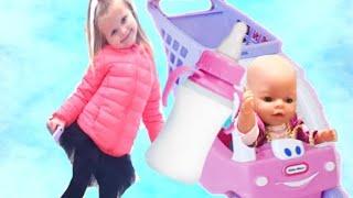 Кукла Беби Борн Катя В СУПЕРМАРКЕТЕ Коляска для беби бон Катя Игры для детей про куклы КАК МАМА игры