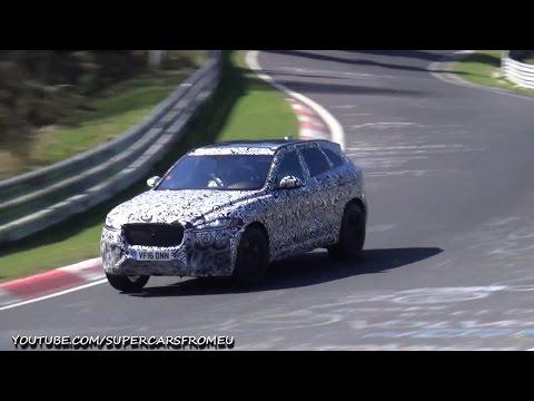 2018 Jaguar F-PACE SVR Spied Testing On The Nurburgring, Nordschleife!