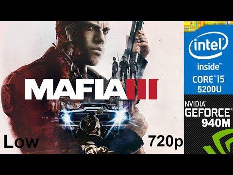 Mafia III Demo on HP Pavilion 15-ab032TX, Low Setting 720p, Core i5 5200u + Nvidia 940m Overclocked