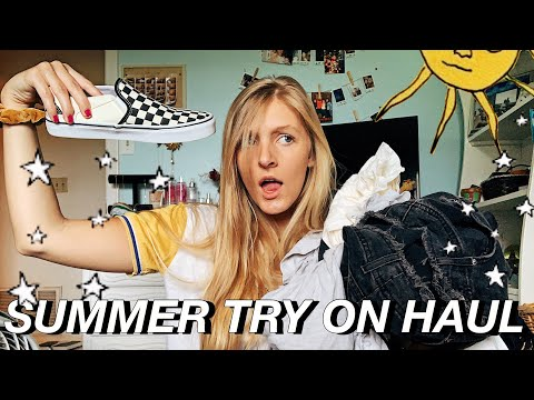 a hugeeee summer try on clothing haul 2019 | *cute and trendy items* thumbnail
