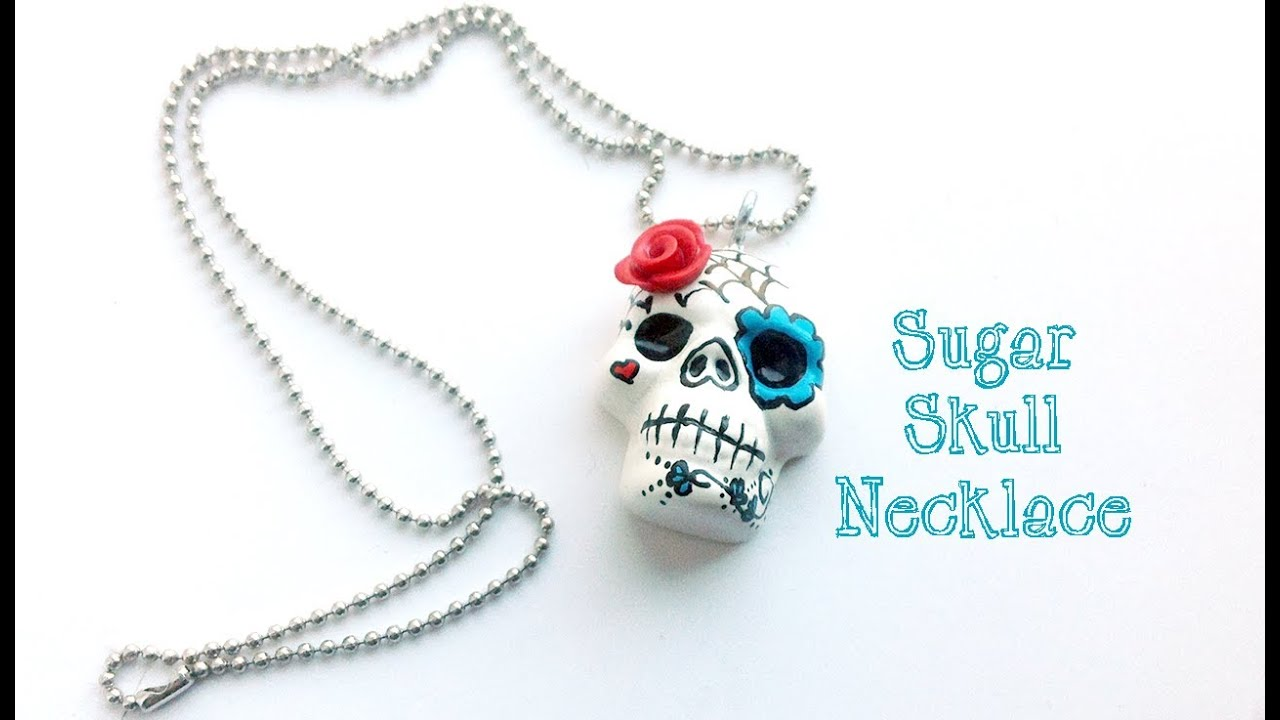 products large de cameo sugar los necklace skull muertos dia flower pendant img