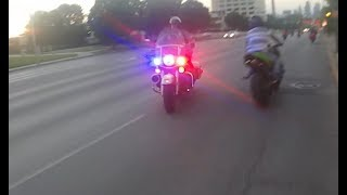 Motorcycle Police Chases Compilation #14 -  POLICE CHASE GONE BAD - June 2017 - FNF