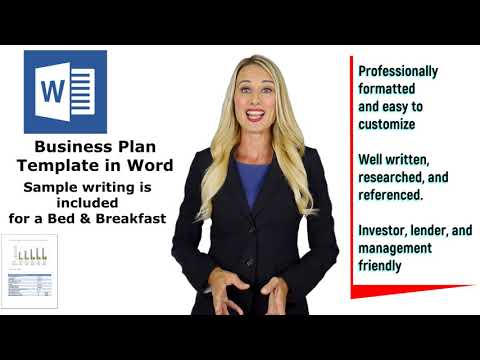 Bed & Breakfast Business Plan - Template package with Example