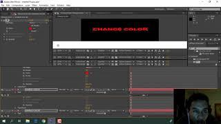 Comment faire pour créer un changement de contrôle de la couleur de revendre de l'ae modèle