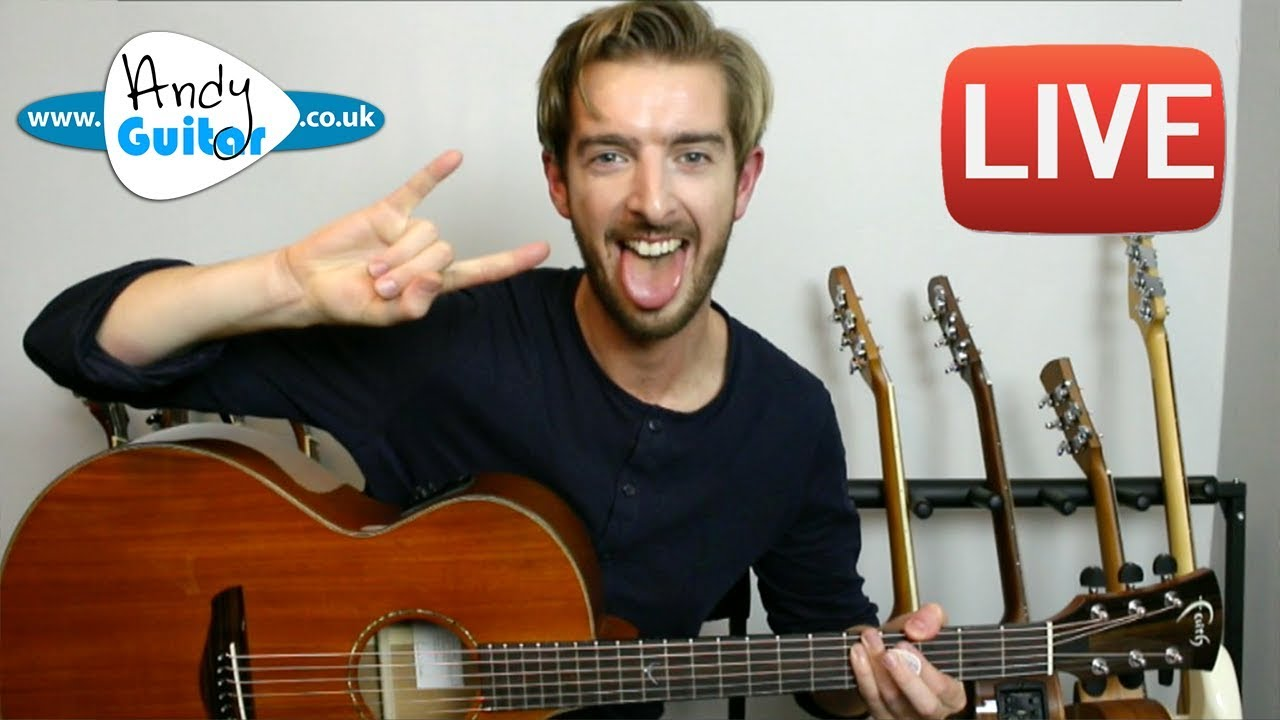 Andy Guitar Live Stream 25th October 2017 - Beginner ...