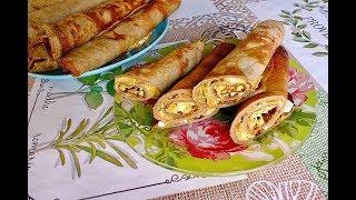 Вкусные  фаршированные печеночные блинчики/ Обалденная закуска.