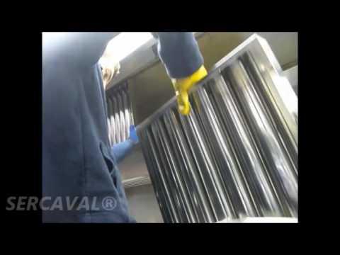 Limpieza de filtros de cocina en campana extractora 1 - Youtube videos de cocina ...