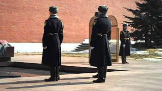 Changing of the Guard at the Tomb of the Unknown Soldier - Moscow Kremlin