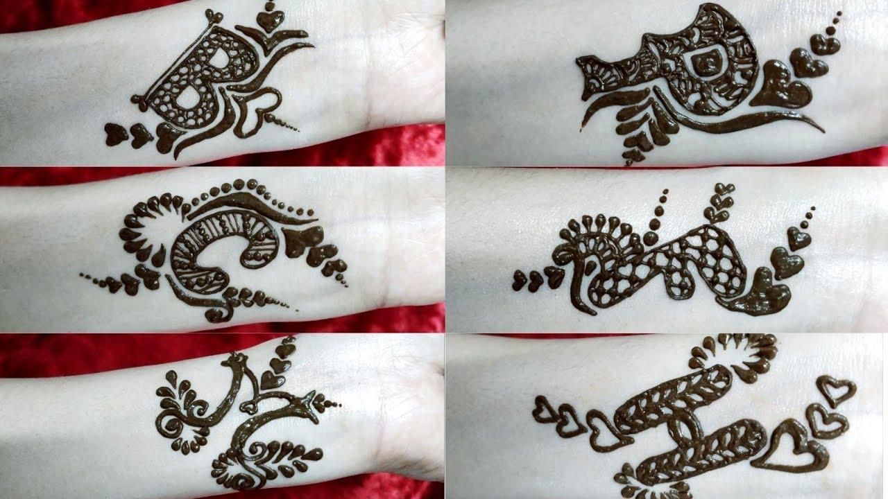 Alphabet Mehendi Design On Demand B P F C M H Alphabets Henna