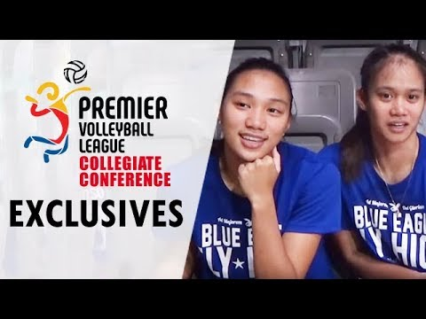 DROP BALL: Bea De Leon and Jho Maraguinot of Ateneo De Manila University Lady Eagles