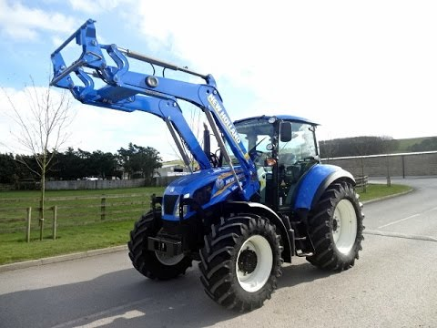 New Holland T5 >> New Holland T5.105 Tractor - YouTube
