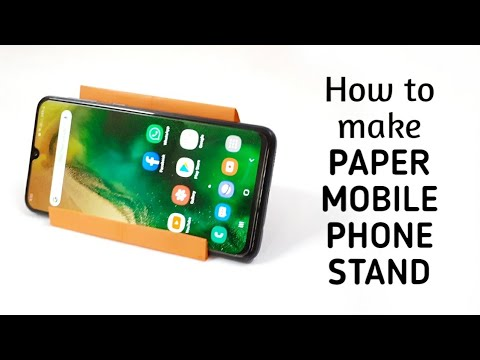 How to make origami paper mobile phone stand - 2 | Origami Videos & Tutorials.