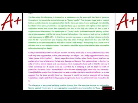 curley wife loneliness essay