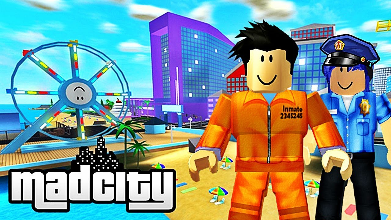 Je Decouvre Mad City Avec Mary Roblox Youtube