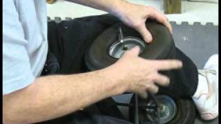 How to Mount a Small Tire on Wheel
