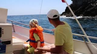 Мы на кораблике в Джардини-Наксосе, Сицилия(Джардини-Наксос, Сицилия, на корабле, экскурсия, vito., 2015-07-03T16:36:03.000Z)