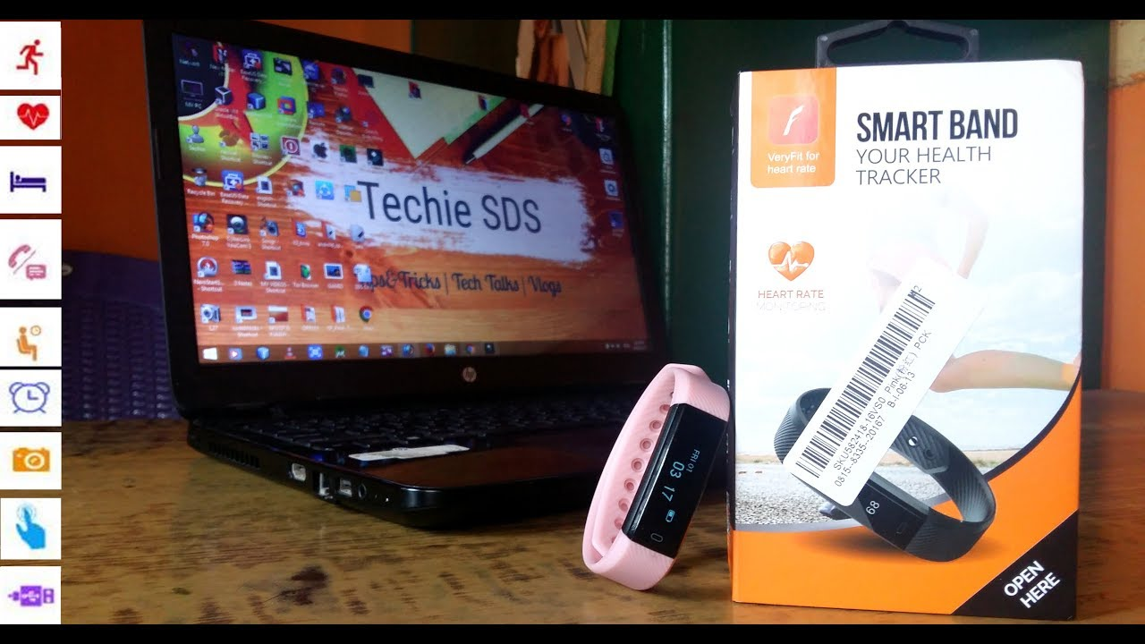 Cheapest SmartBand Health Tracker with Heart Rate Monitoring Unboxing,Setup  ID115 under 2000 india