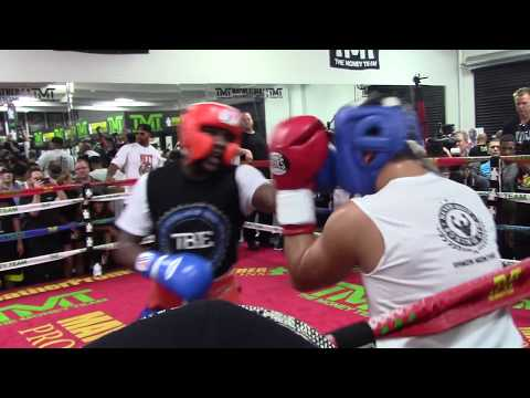 FLOYD MAYWEATHER DESTROYS SPARRING PARTNERS 8/26/15 HoopJab Mayweather vs Mcgregor